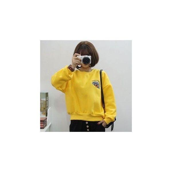 Print Sweatshirt (180 SEK) ❤ liked on Polyvore featuring tops, hoodies, sweatshirts, sweatshirt, women, mixed print top, print sweatshirt, yellow sweatshirt, print top and yellow top