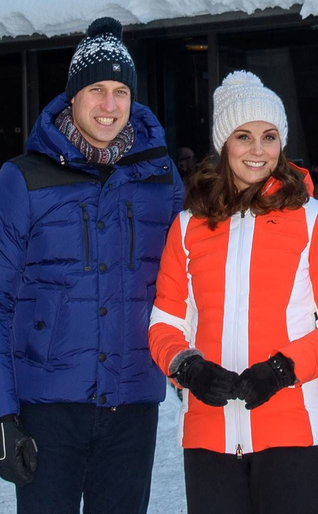 Time to Hit the Slopes from Candid Moments From the Royal Tour of Sweden and Norway  William and Kate bundled up for their visit to the Holmenkollen Ski Jump in Norway.