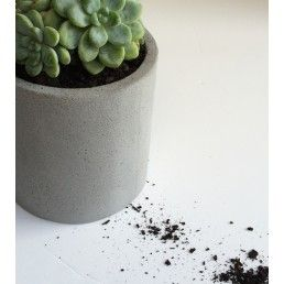 ZAKKIA Concrete Pot Natural