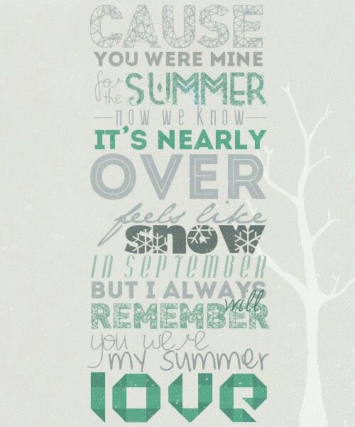 Summer Love by One Direction!!! Also doing a solo to this song!!