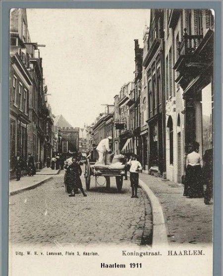 Koningsstraat te Haarlem rond 1911