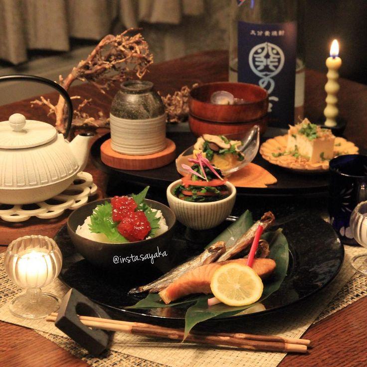 Today's #dinner  shishamo grilled salmon Soup stock winding egg clam misosoup  tomato salad . . 今晩は♡ #忘年会 続きなので優しい#和食 #ししゃも 山漬けの焼き鮭 すじこ トマトとほうれん草のお浸し だし巻き卵の春菊と椎茸の餡かけ しじみの味噌汁 #冷奴 . . #夕ごはん#夕食#晩ご飯#夜ごはん#저녁식사#저녁밥#料理#料理写真#食卓#キロク#japanesefood#器#記録#おうちごはん#テーブルコーディネート#kurashiru#kaumo #TheJapaneseCuisine#奥田章 #sghr#南部鉄器 #キャンドル#candle#和食器#小澤基晴