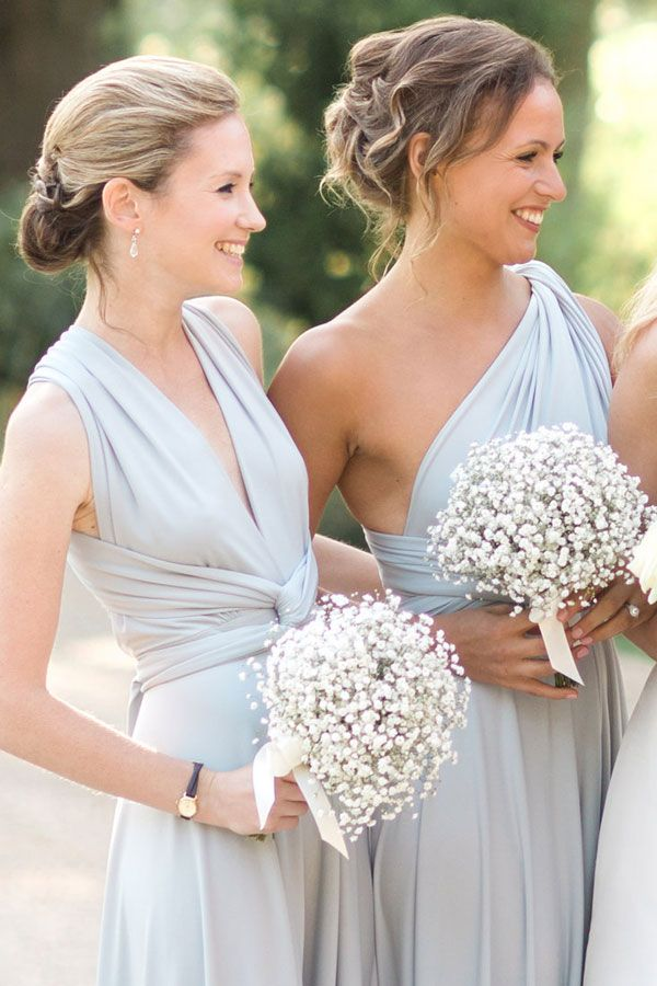 i love the dress styles but more than that - check out the bouquets. they are simple but till gorgeous