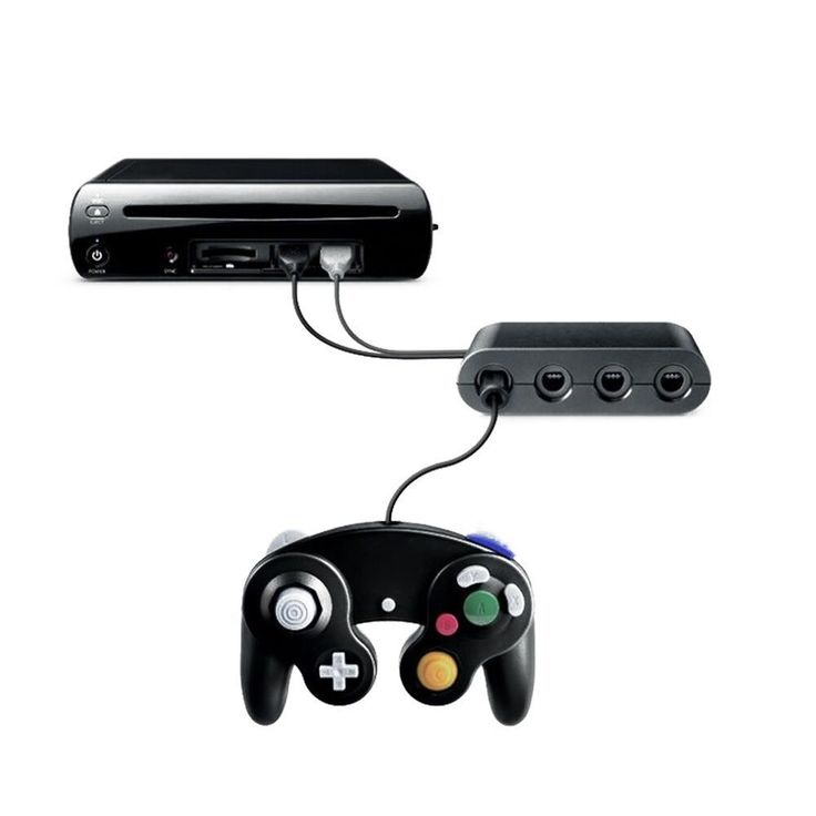 Gamecube Controller Adapter Converter for wii u Super Smash Bros new  #UnbrandedGeneric