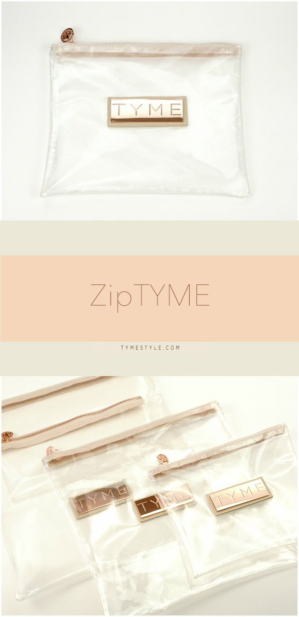 NEW ZipTYME bags are perfect for brushes, travel items, the pool, makeup--really, the possibilities are endless! You can even operate touch-screen devices through the bag! Three sizes of ZipTYME are now available at WWW.TYMESTYLE.COM