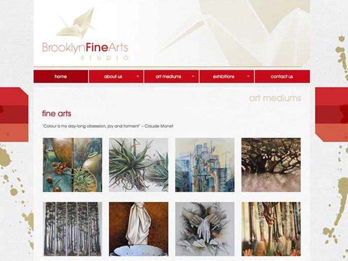 Brooklyn Fine Arts Website