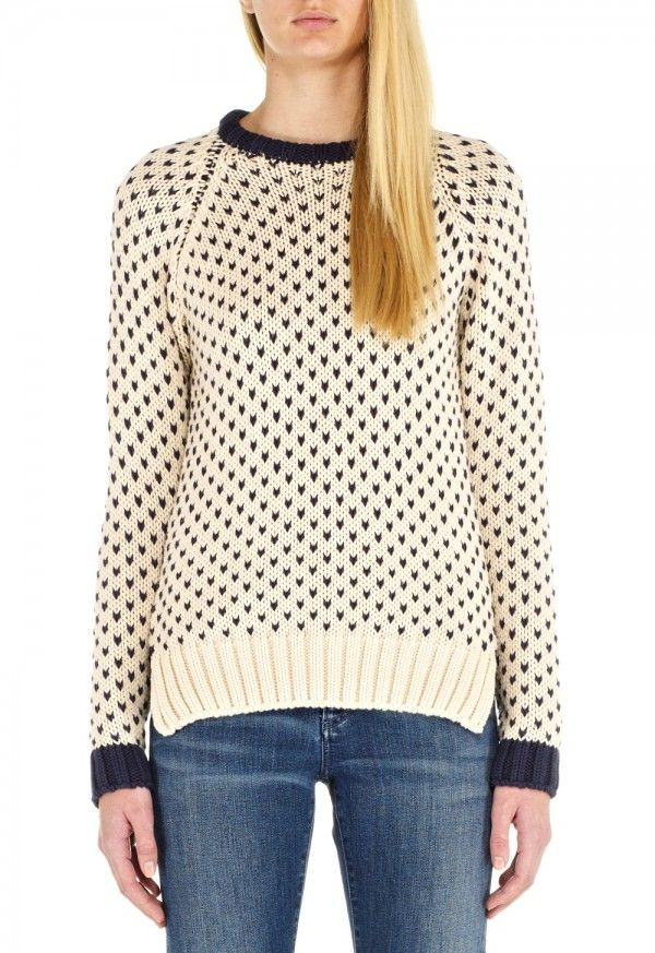 The SCHOOL Sweater - ROUND NECK, SQUARE KNIT SWEATER - Birdseye Knit - MiH