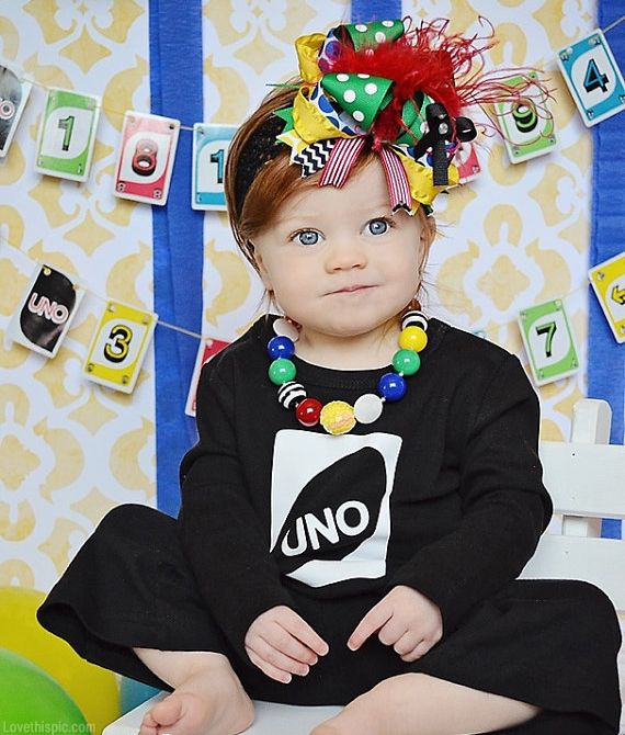 Possibly make an UNO card invitation with Sweet Baby in the middle holding a #1 (or wild card/draw four...haha!)