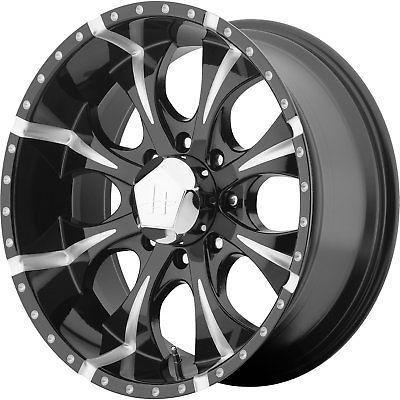 16x8 Black Milled Helo HE791 Maxx 8x6.5 0 Wheels Terra Grappler LT265/75R16