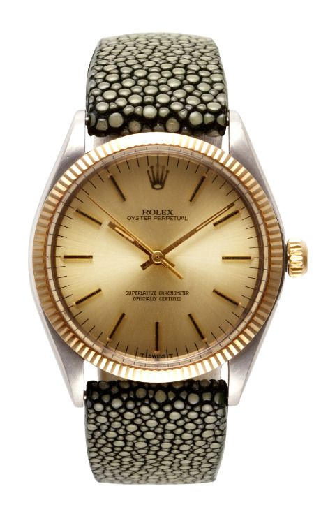 Shop Rolex Stainless Steel And Yellow Gold Oyster Perpetual Watch by CMT Fine Watch and Jewelry Advisors for Preorder on Moda Operandi