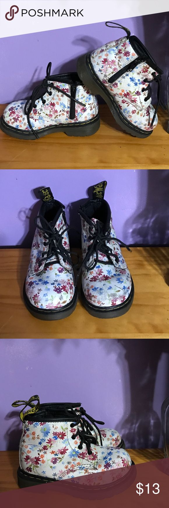 Dr martens brooklee b toddler boots Original pair of dr marten boots size US 6.  They are used please look at picture to see scratches it has in the front . Dr. Martens Shoes Boots