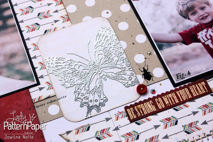 As a scrapbooker I am aware of all the beautiful elements in store, but in this turorial you'll learn to create your own embossed accents.