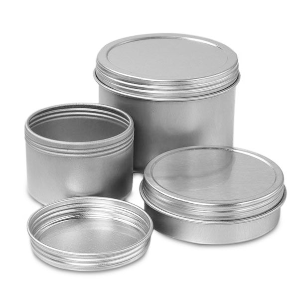 Orange Metal Containers Canning Tin