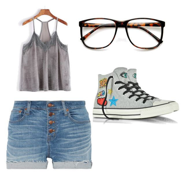 """""""Sans titre #4"""" by misleydy on Polyvore featuring mode, Madewell, ZeroUV et Converse"""