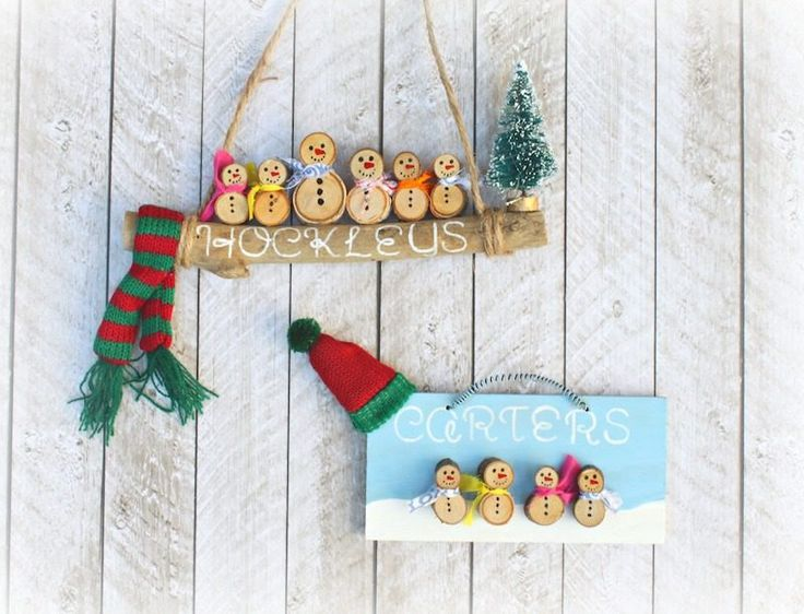 Deck the walls with sweet, personalized snow people families! These cute DIY snowman decorations are simple to make and easy to customize.