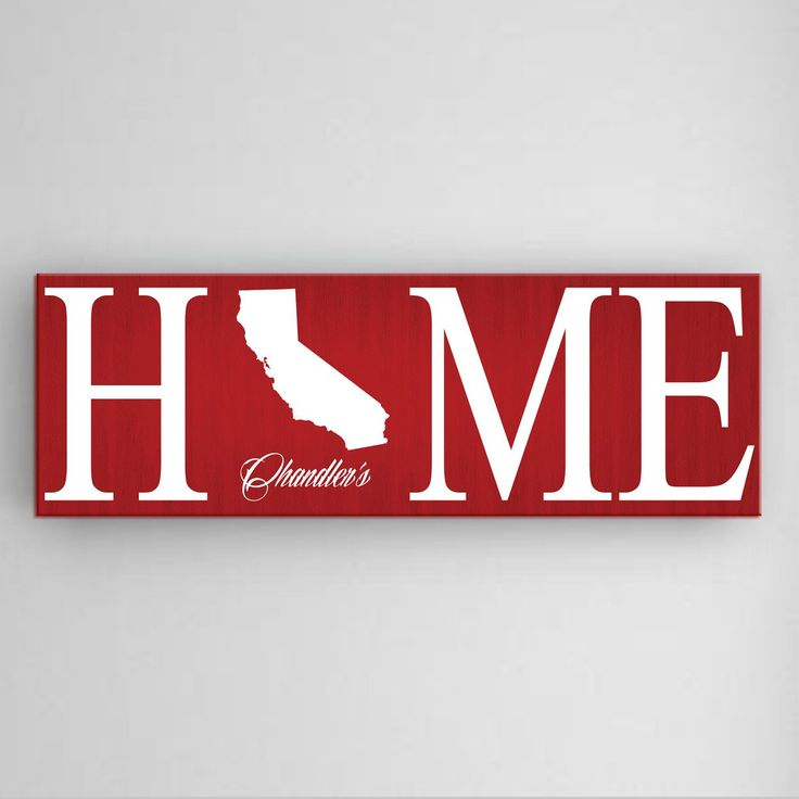 Personalized Home State Canvas Sign – Personalized Gifts
