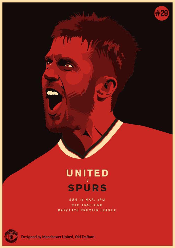 Match poster. Manchester United vs Tottenham Hotspur. 15 March 2015. Designed by @manutd.