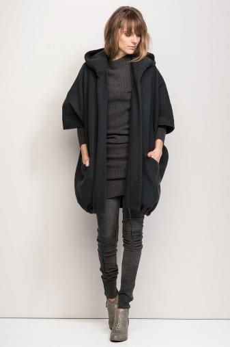 Humanoid AW14 black and grey and draped #minimalist #fashion #style