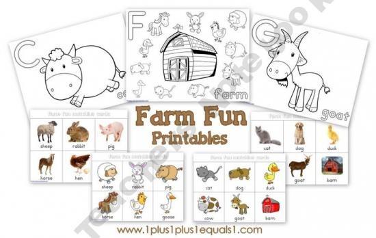 Farm Fun Printables ~ Prek-1st