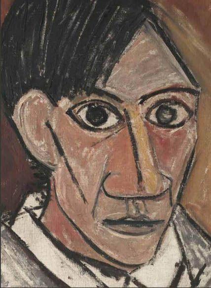 Self Portrait 1907 Detail By Pablo Picasso