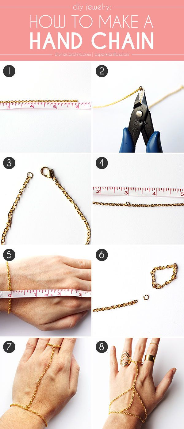 DIY Jewelry: How to Make a Hand Chain