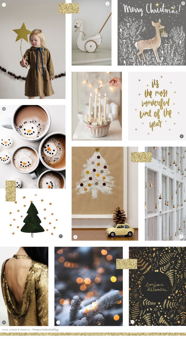 Another festive moodboard today, and this time its a golden Christmas... This might be one of my favourites, and most definitely satisfies...