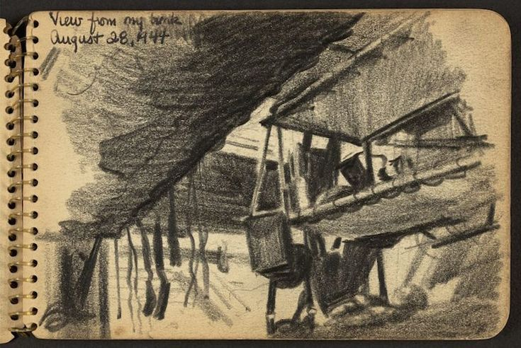 True artists must find a creative outlet no matter what the circumstance—including times of war. Thanks to the creative passion and steady hand of then 21-year old soldier Victor Lundy, we have a breathtaking visual record of World War II, in the form of documentary sketches. For Lundy,