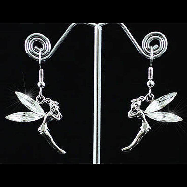 Peacock Star Silver Color, Gold Color Shipping Fairy Earrings use Austrian Crystal CSE196