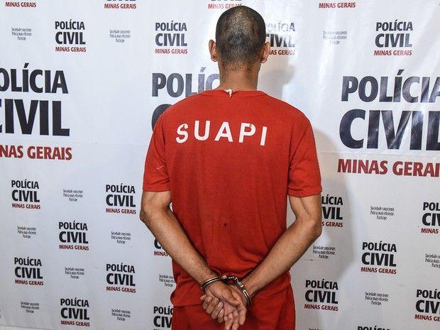 #News  Jovem suspeito de estuprar enteada de 13 anos é apresentado em Araxá