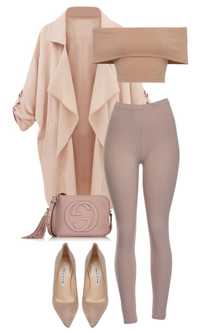 """""""untitled"""" by sphynxxx ❤ liked on Polyvore featuring Manolo Blahnik and Gucci"""