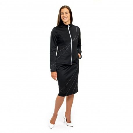 Lilium Jacket - Protection against harmful Electromagnetic waves & Mobile phone radiation (E-SMOG) ------- OnyxPro ------- with EM Pro Shield function. Fashionable softshell slim-fit jacket to protect women body from high frequency #electromagnetic #waves, to look professional and elegant. ------- #Shielding #strength: 60.5 dB at 1 GHz (20% pure #silver content, no nano silver used) ------- 550 €