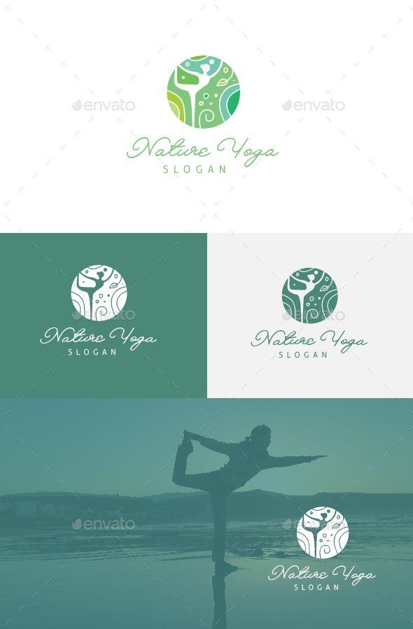 Nature Yoga Logo Template — Vector EPS #yoga #woman • Available here → gra...