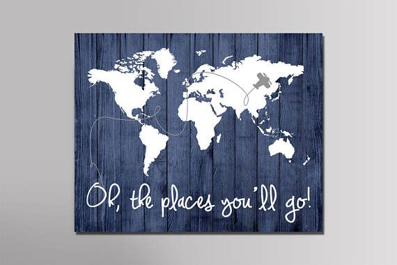 Oh the places you will go, large world map poster, Wood map art, world map poster, world map printable, world map wall art, world map poster