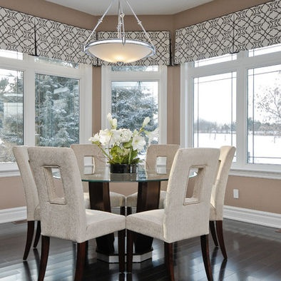 Tailored pleated valance  contemporary dining room by Kiya Developments Ltd Best 25 Valance ideas on Pinterest Bathroom