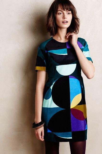 Marimekko circle dress (and hair).