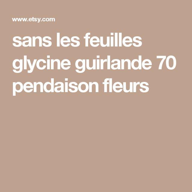 sans les feuilles glycine guirlande 70 pendaison fleurs
