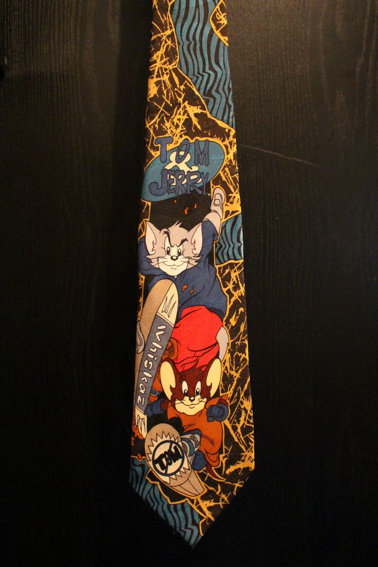 Tom and Jerry Skate park Necktie