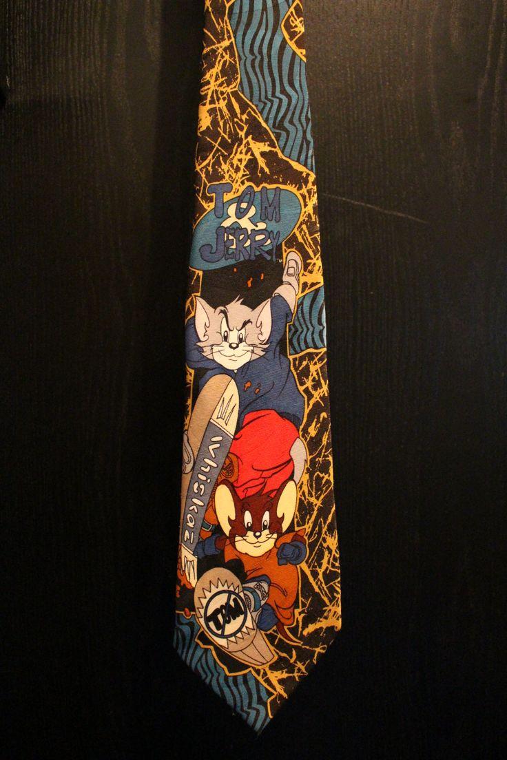 Tom and Jerry Skate park Necktie