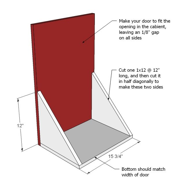 Cabinet Plans Ana White | Build a Wood Tilt Out Trash or Recycling Cabinet | Free and Easy DIY...