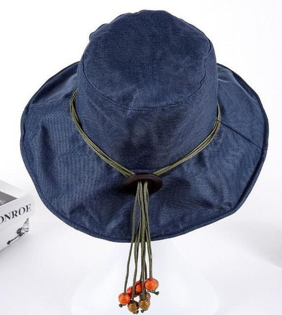 Vintage Linen Beach Hat