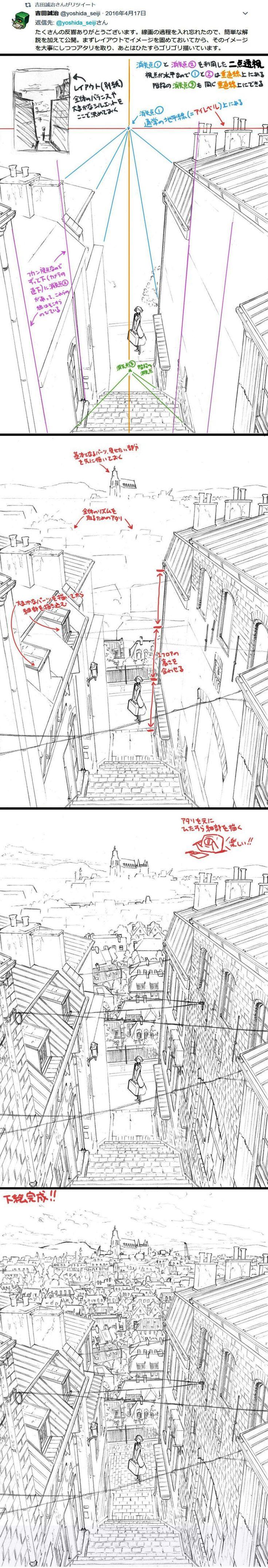 Perspective tutorial sketch