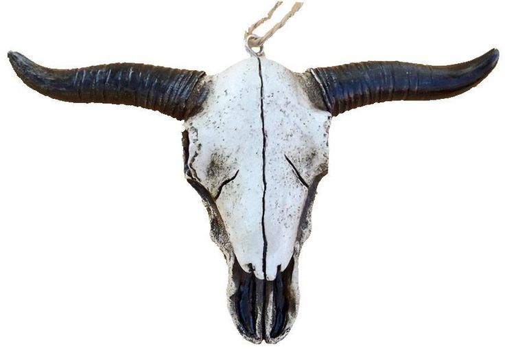 Old West Style Longhorn Skull Ornament