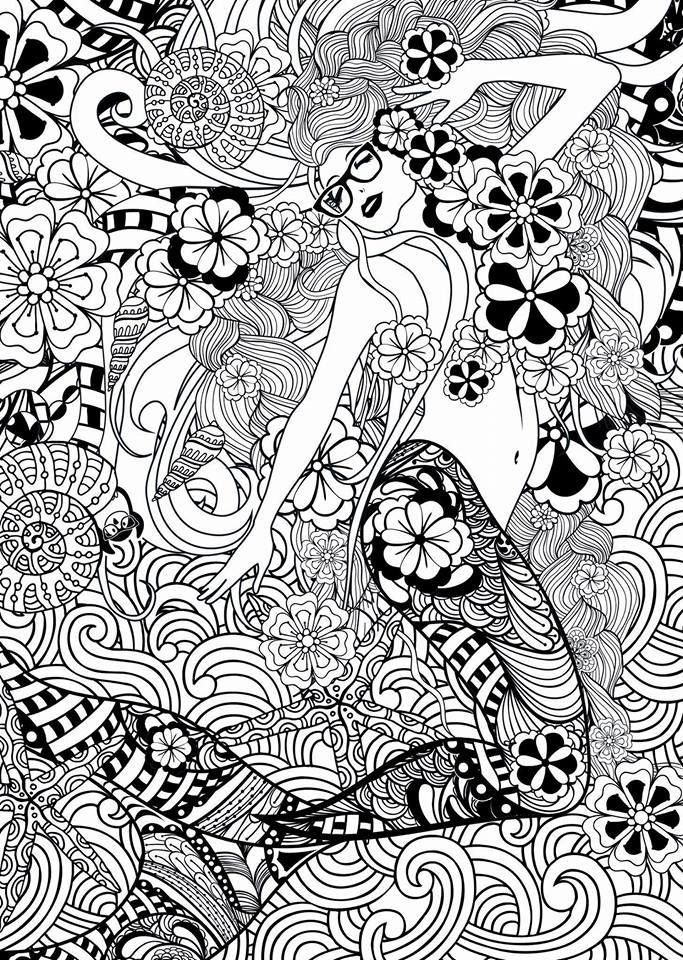685 Best Coloriage Sirenes Images On Pinterest Mermaids