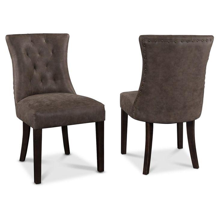 Köp - 990 kr! Tuva Adele stol - Vintage Läder. Tuva Adele stol i ett vintage läder (PU) som liknar