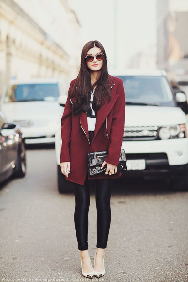 {fashion | colour inspiration : a little bit of bordeaux} #MyVSFallEdit