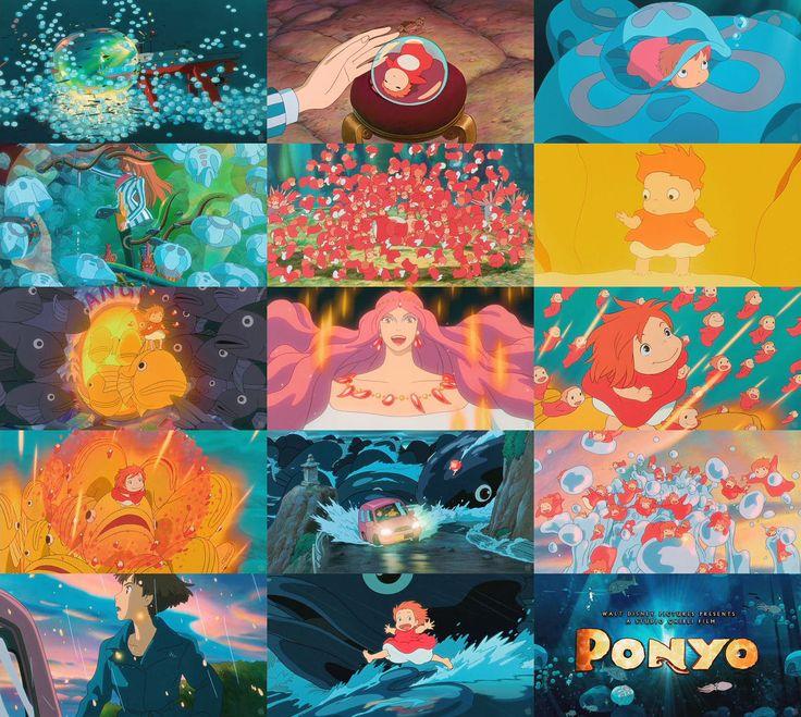 Miyazaki Ponyo, Personajes studio ghibli y Hayao miyazaki