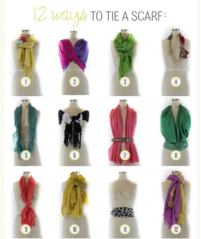 multiple ways to wear a scarf, once i build my collection, i will def be doing this, already see a few that are so me