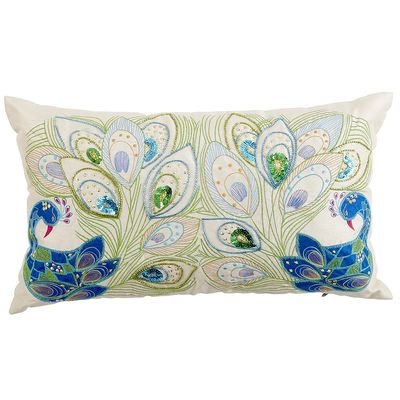 Mirrored Peacock Pillow