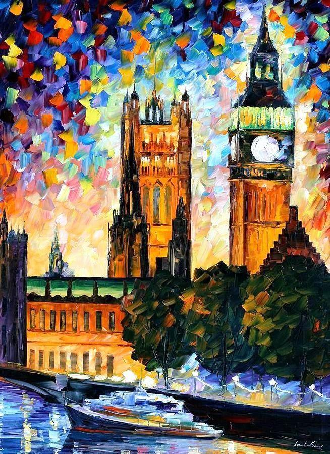 Big Ben, London 2 — Palette Knife Uk Cityscape Wall Art