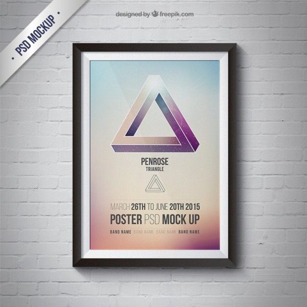 Mockup Quadro com poster Psd grátis